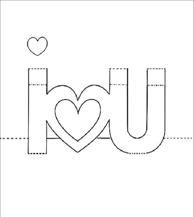 cách làm thiệp 3d i love you 1