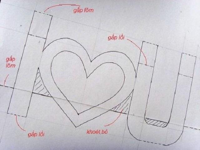 cách làm thiệp 3d i love you 2