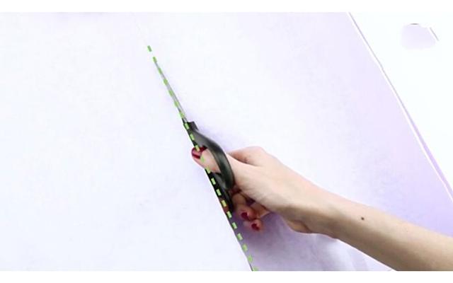 Cách làm túi giấy bước 1