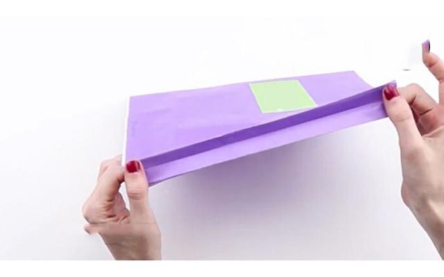 Cách làm túi giấy bước 4