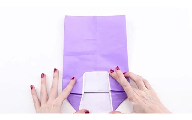Cách làm túi giấy bước 5