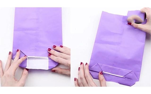 Cách làm túi giấy bước 6