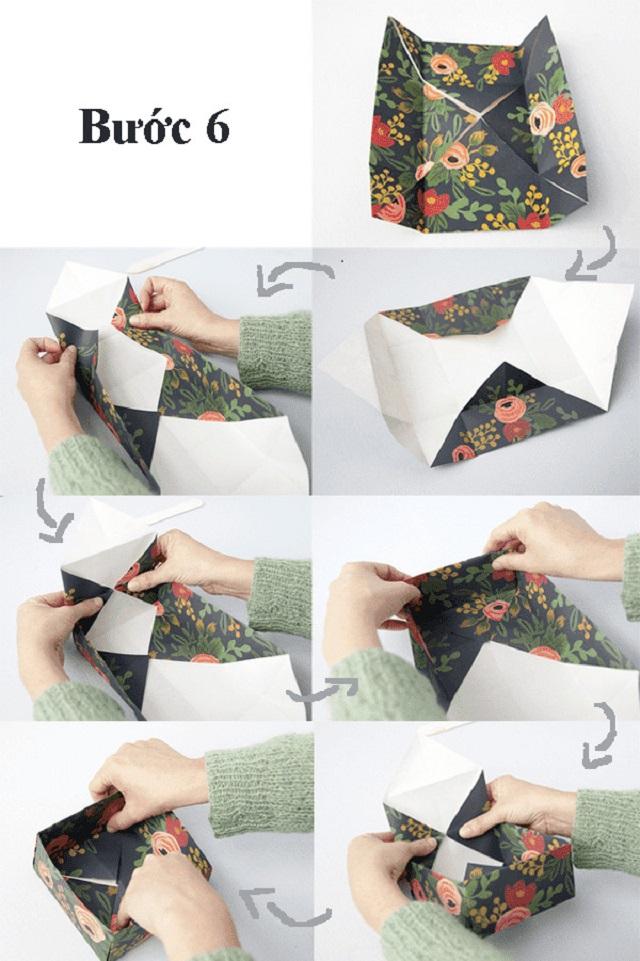 cách làm hộp giấy đựng đồ 6