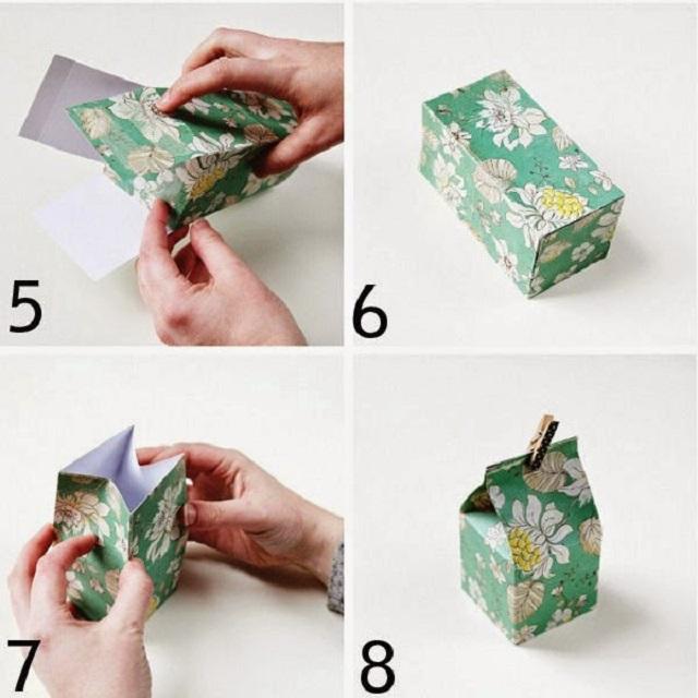 Cách làm hộp giấy đựng quà 3