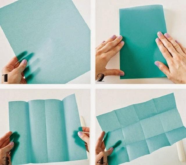 Cách gấp hộp giấy đựng kẹo 1