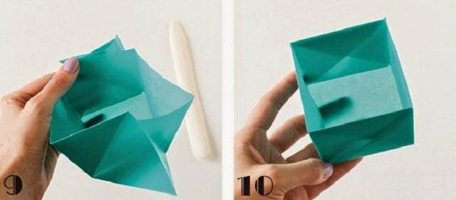 Cách gấp hộp giấy đựng kẹo 3
