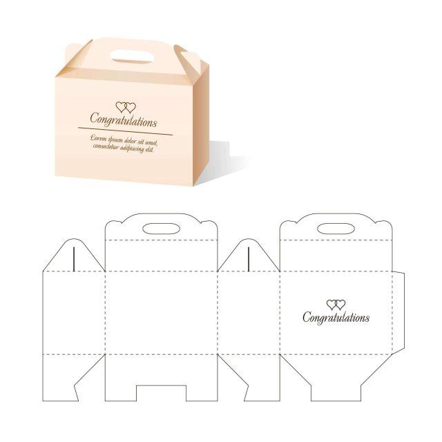 Mẫu thiết kế hộp giấy 002