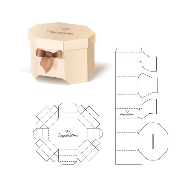 Mẫu thiết kế hộp giấy 003