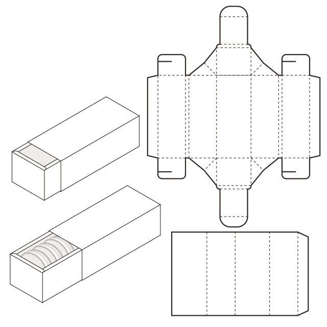 Mẫu thiết kế hộp giấy 004