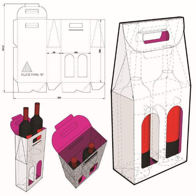 Mẫu thiết kế hộp giấy 008