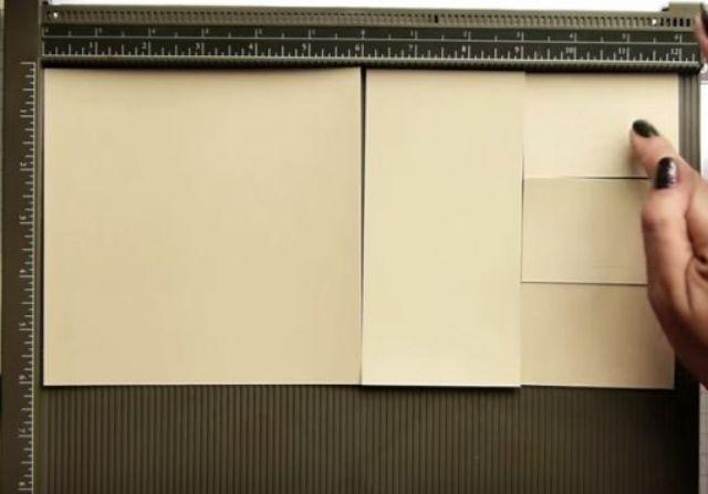 cách làm hộp giấy đựng son bước 1