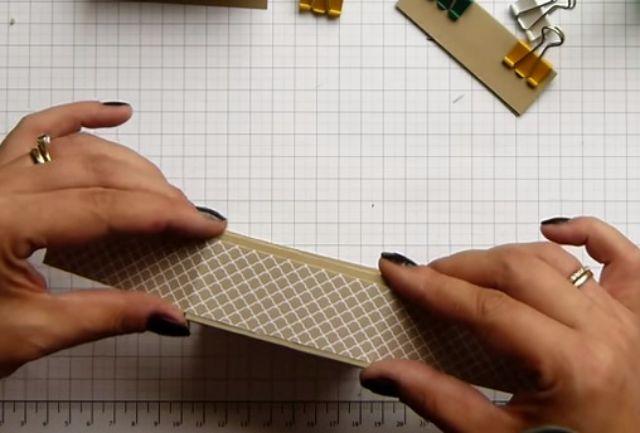 cách làm hộp giấy đựng son bước 10