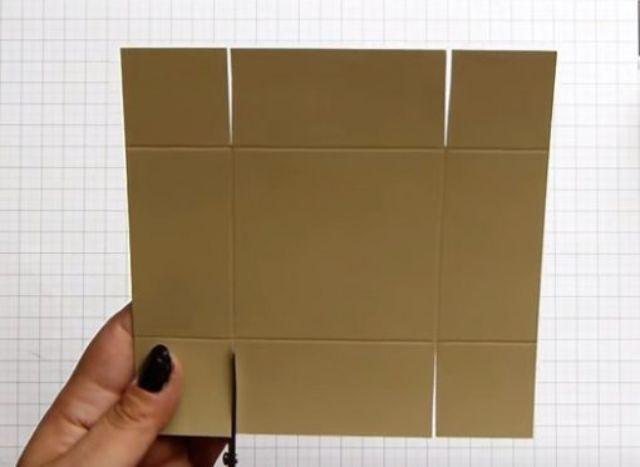 cách làm hộp giấy đựng son bước 5