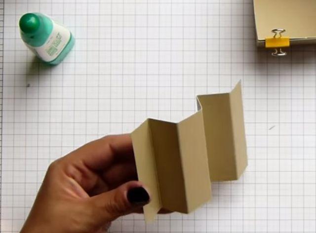 cách làm hộp giấy đựng son bước 7