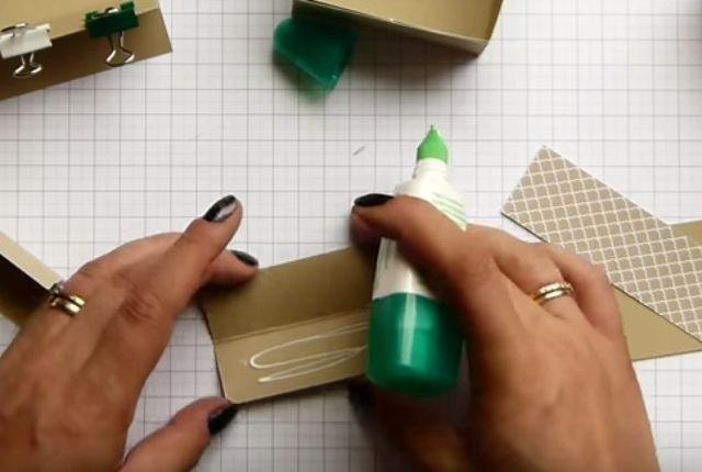 cách làm hộp giấy đựng son bước 9