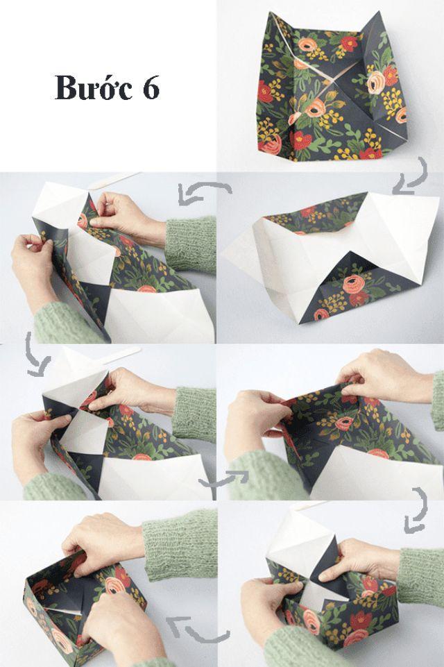 Các bước làm hộp giấy đựng bánh 6
