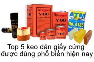 Tổng quan về sản phẩm keo dán giấy cứng
