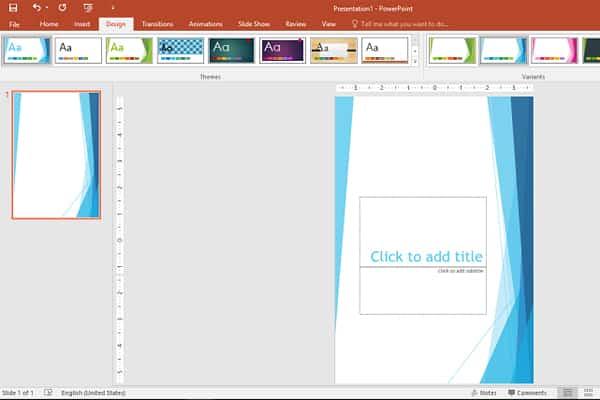 Cách làm poster bằng PowerPoint bước 2