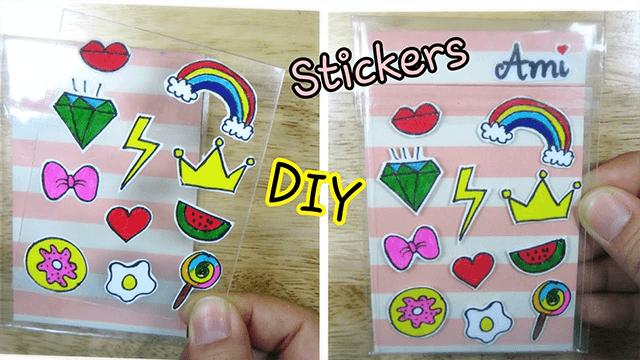 Cách làm Sticker dán bằng băng dính trong