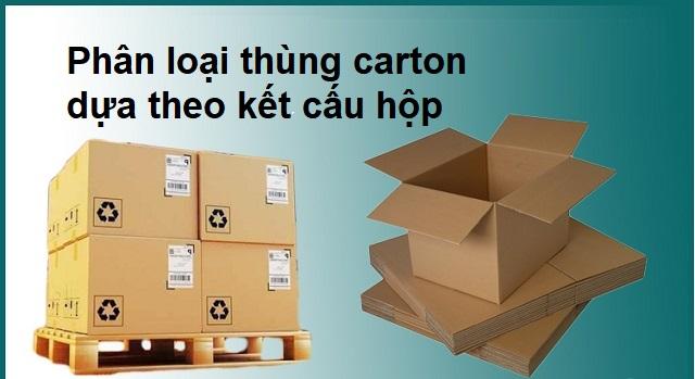 Phân loại thùng carton dựa theo kết cấu hộp