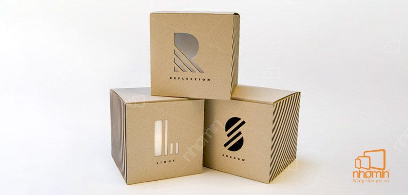 In hộp giấy theo chất liệu giấy Kraft