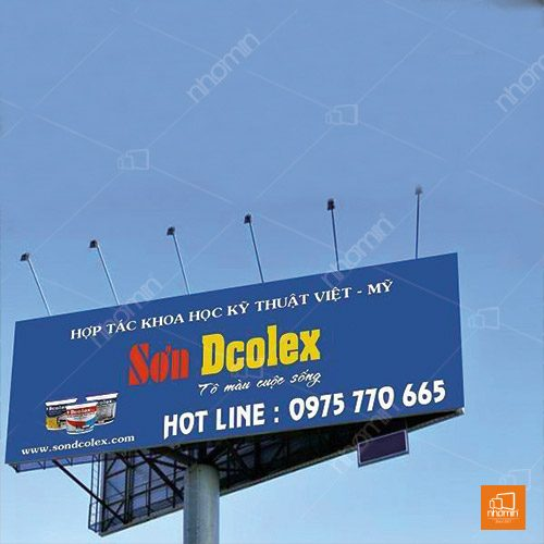 Kiểu dáng bạt hiflex hãng sơn Dcolex