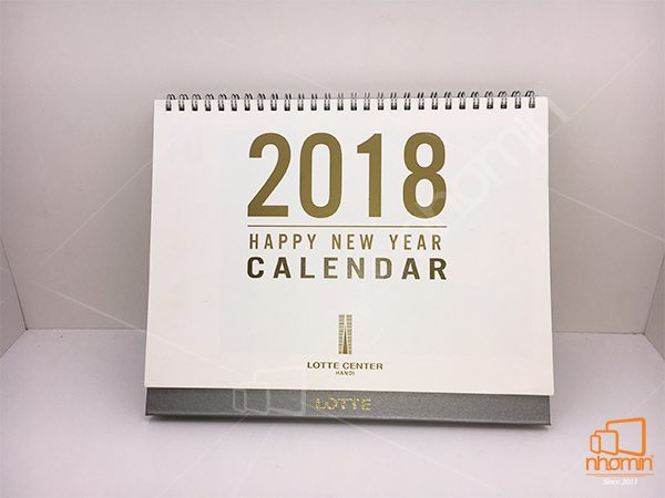 lịch bàn giấy mỹ thuật