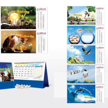 Mẫu lịch để bàn PN 2020 - Hợp tác thành công
