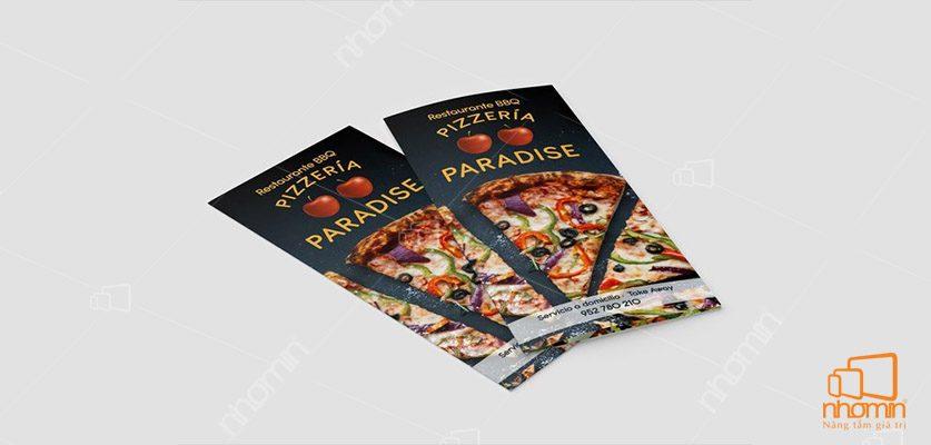 Mẫu menu đồ ăn pizza