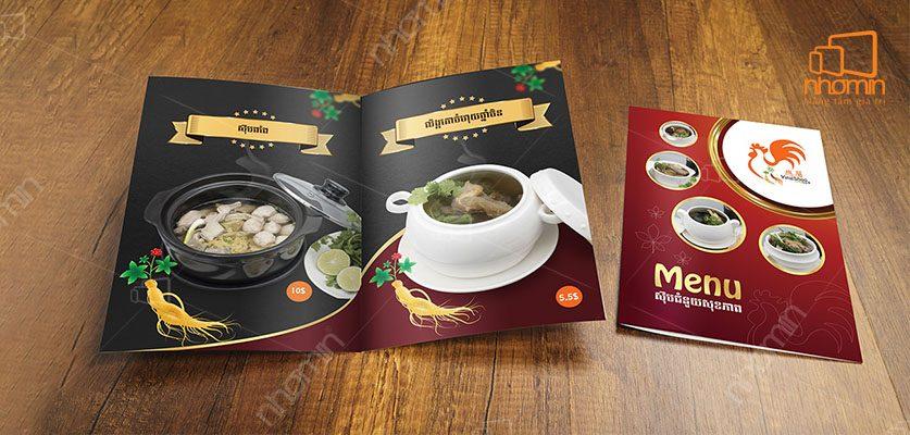 Mẫu menu nhà hàng Thái Lan