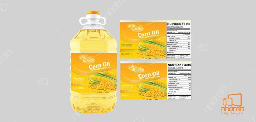 Mẫu tem nhãn chuẩn hãng dầu ăn