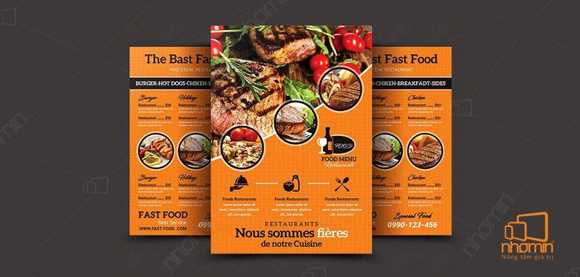 Mẫu thực đơn nhà hàng Pháp