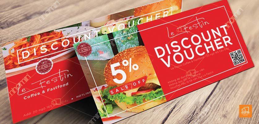 Phiếu giảm giá đồ ăn sinh động