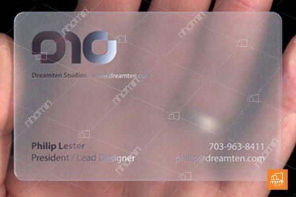 Thẻ nhựa đơn giản nhưng tinh tế