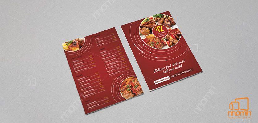 Thiết kế menu chuẩn hóa
