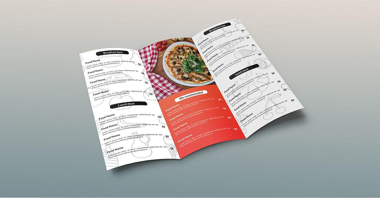 báo giá in thực đơn menu
