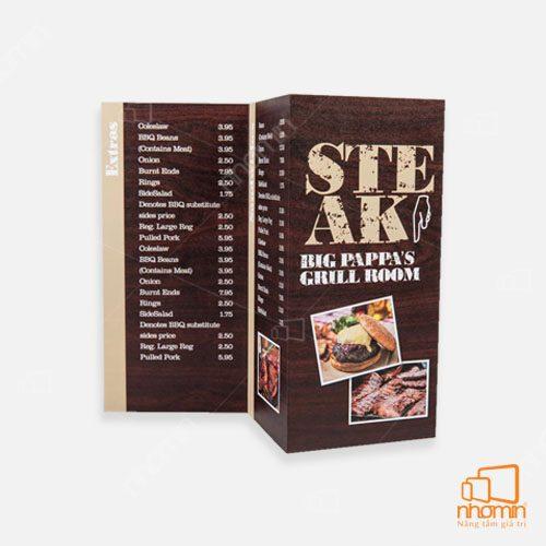Xưởng in menu, thực đơn chất lượng hàng đầu