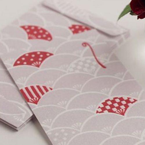 in phong bao li xi đơn giản Nhật Bản