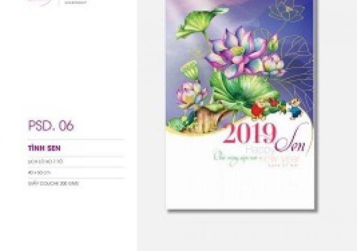 Catalogue lịch phôi sẵn PSD 2019