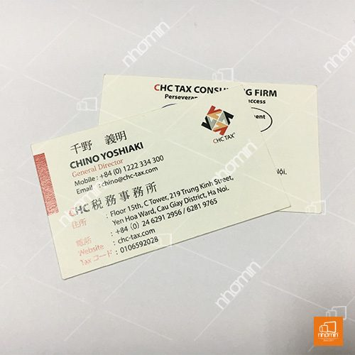 In card visit công ty tư vấn thuế