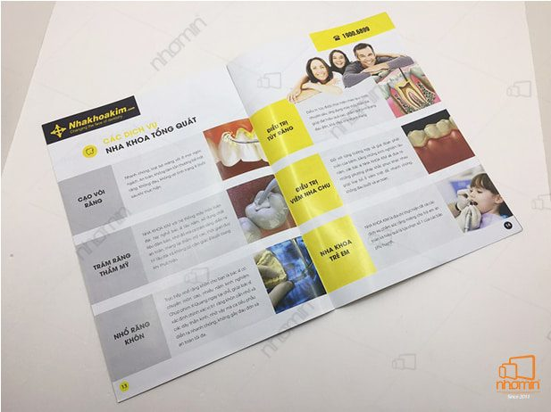 catalogue quảng cáo dịch vụ của phòng khám NHAKHOAKIM