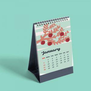 thiết kế lịch để bàn theo yêu cầu