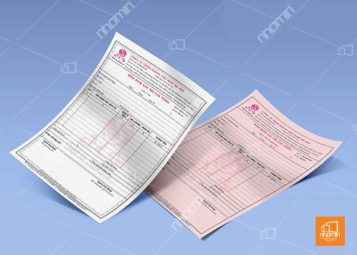 hóa đơn 2 liên