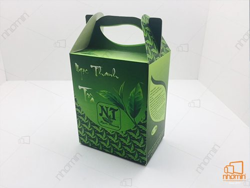 hộp trà kiểu dáng quai xách