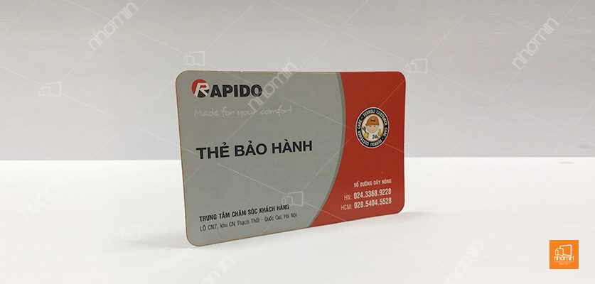 in card visit nhựa apido