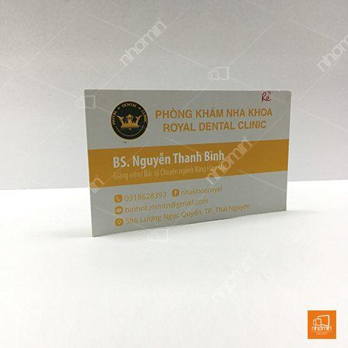 in card visit phòng khám đa khoa