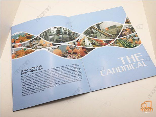 nhận thiết kế và in an catalogue gia re công ty bánh kẹo