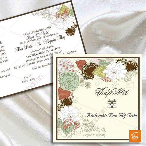 In thiệp mời cưới sang trọng