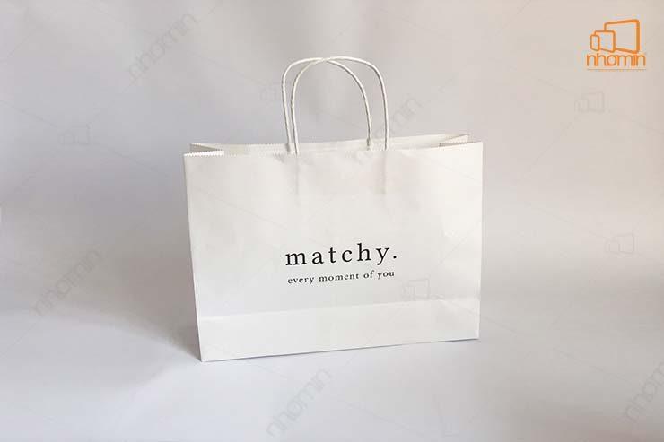 mẫu túi giấy matchy