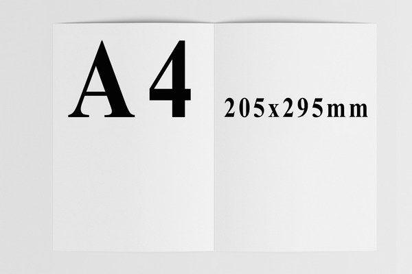 kích thước catalogue a4